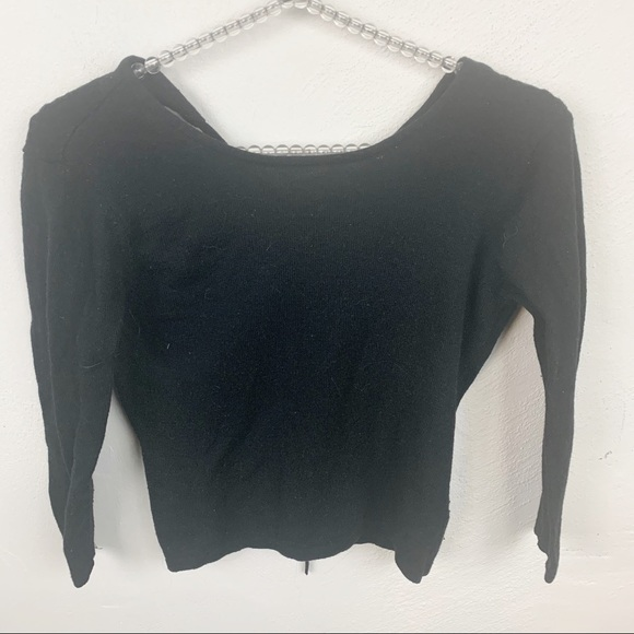Brandy Melville l Wool Blend Open Back Sweater